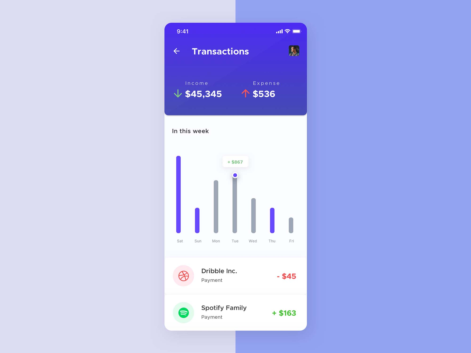Mobile Wallet App Template 3
