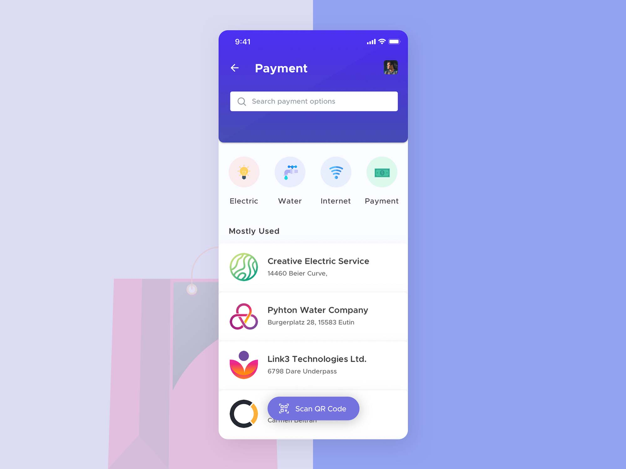 Mobile Wallet App Template 4