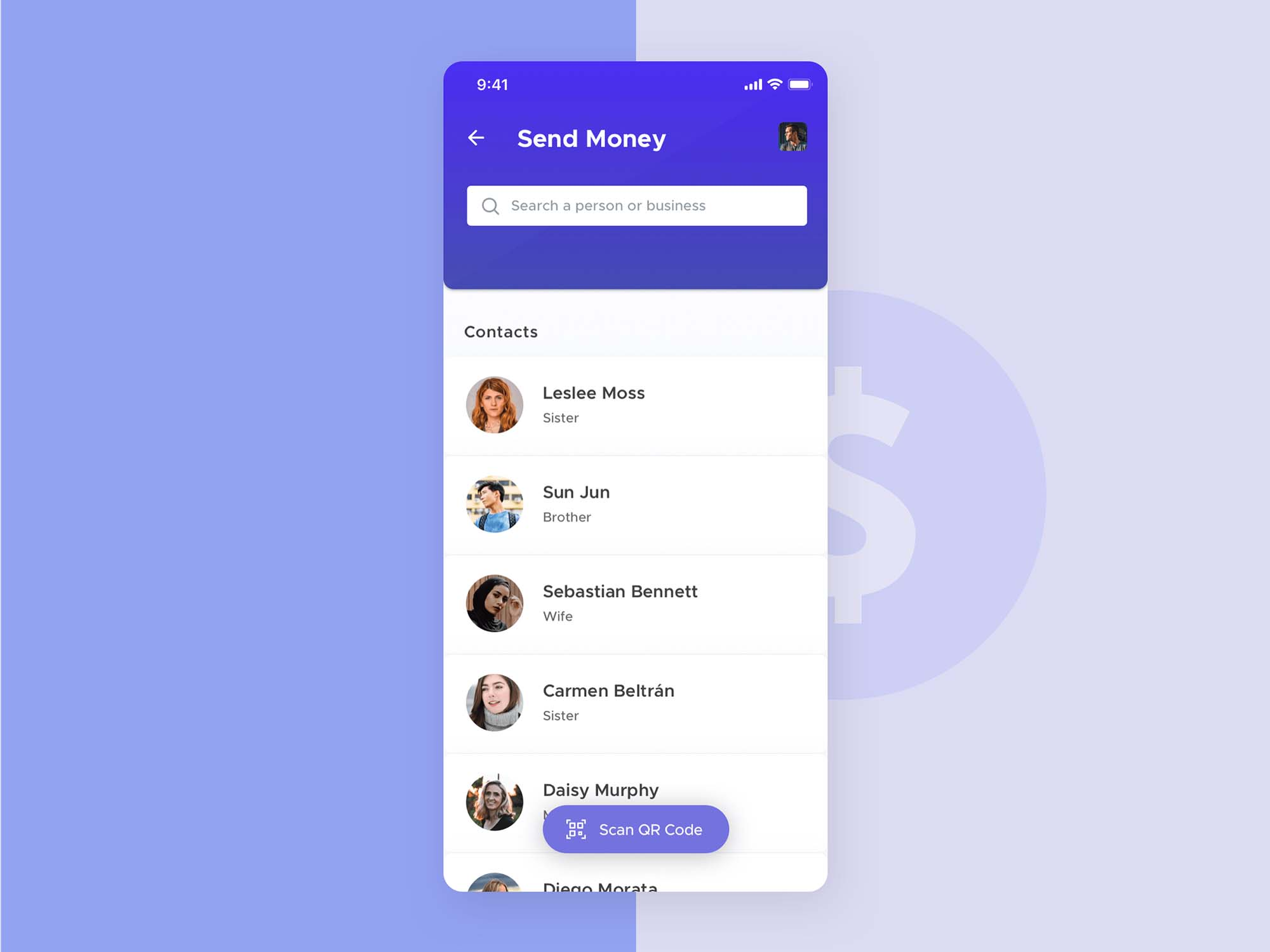 Mobile Wallet App Template 5
