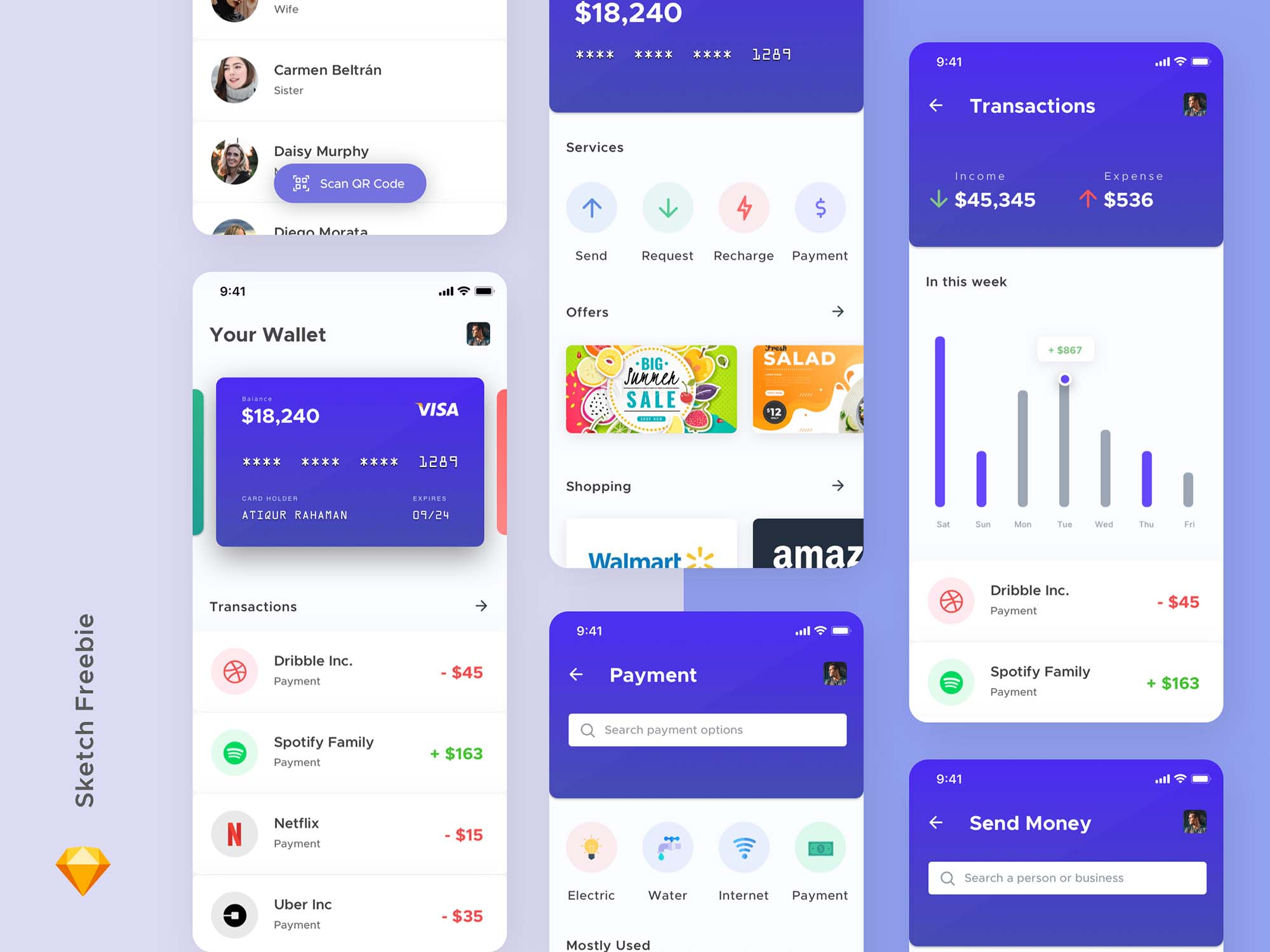 Mobile Wallet App Template