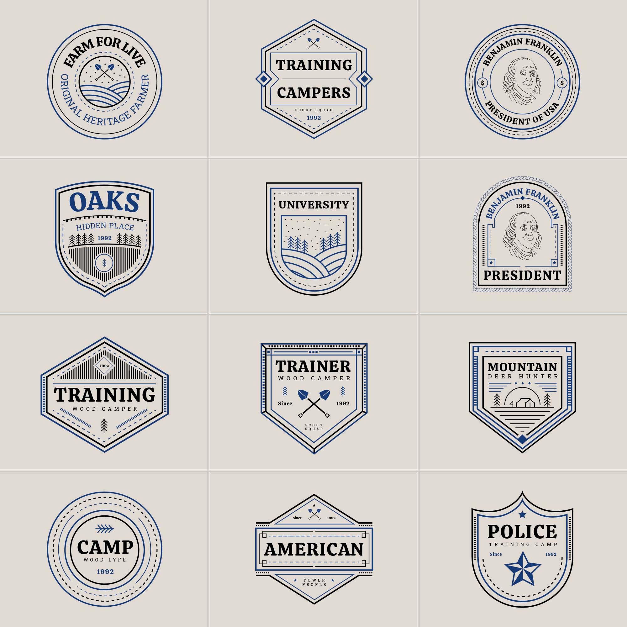 Multipurpose Vector Badges 2