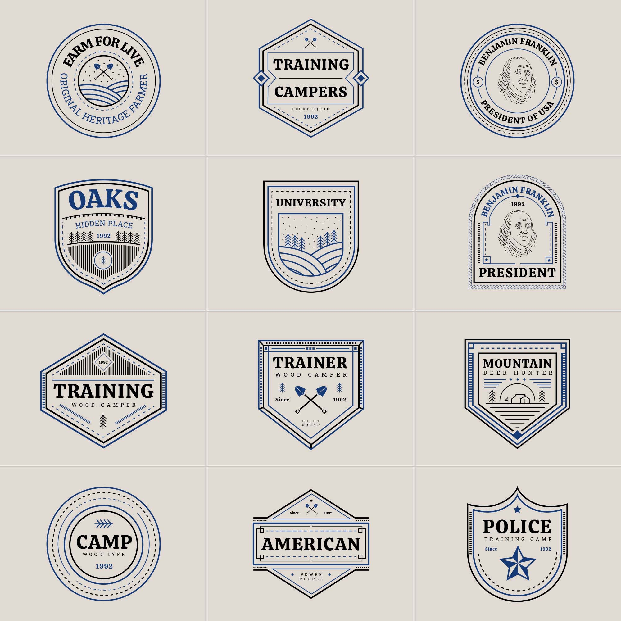 Multipurpose Vector Badges 2