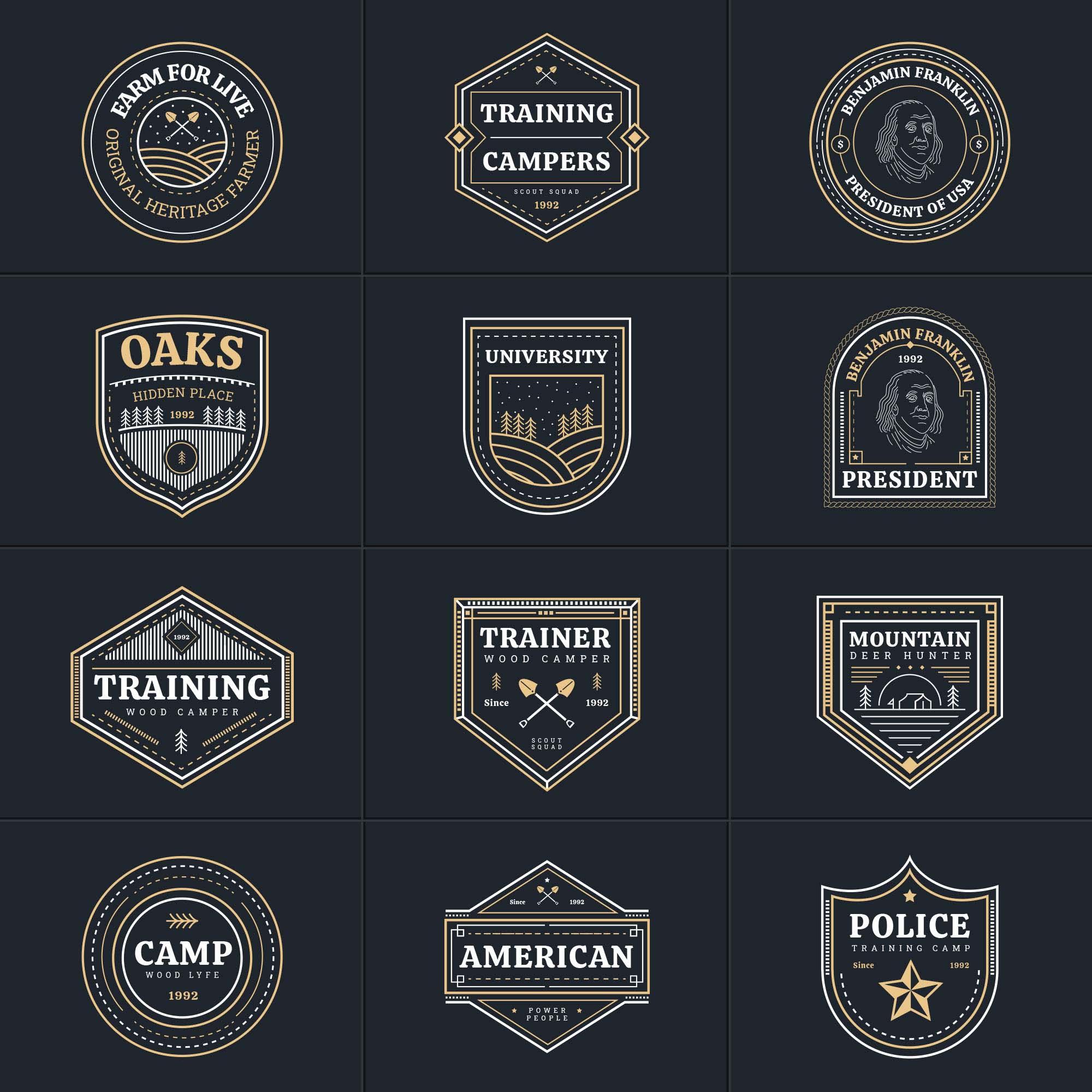 Multipurpose Vector Badges