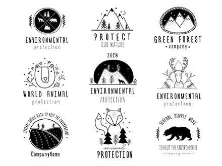 Nature Protection Logo Templates