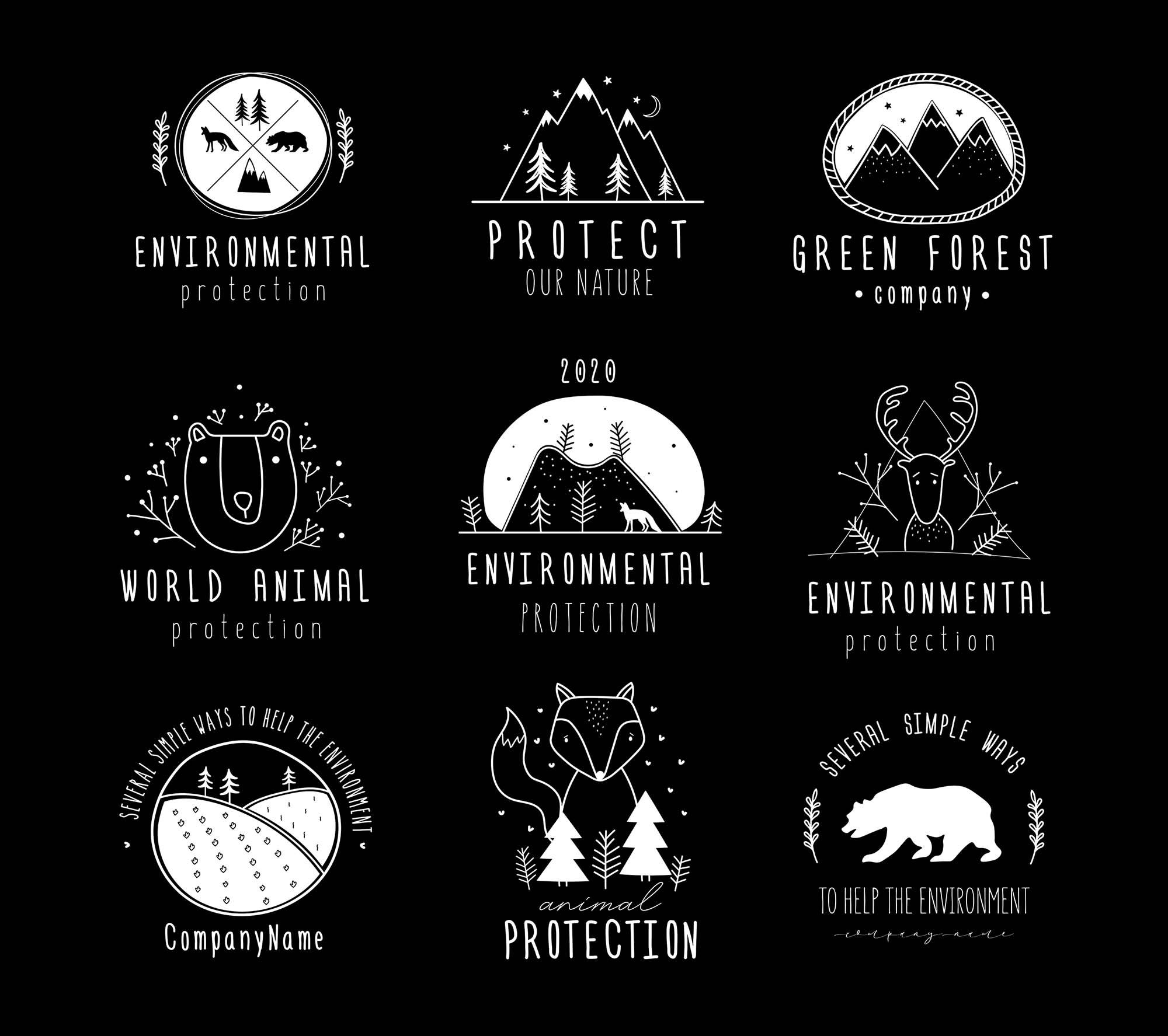 Nature Protection Logo Templates 2