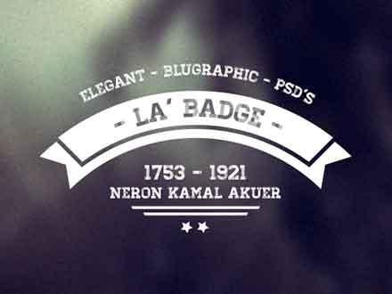 Retro Photo Badges