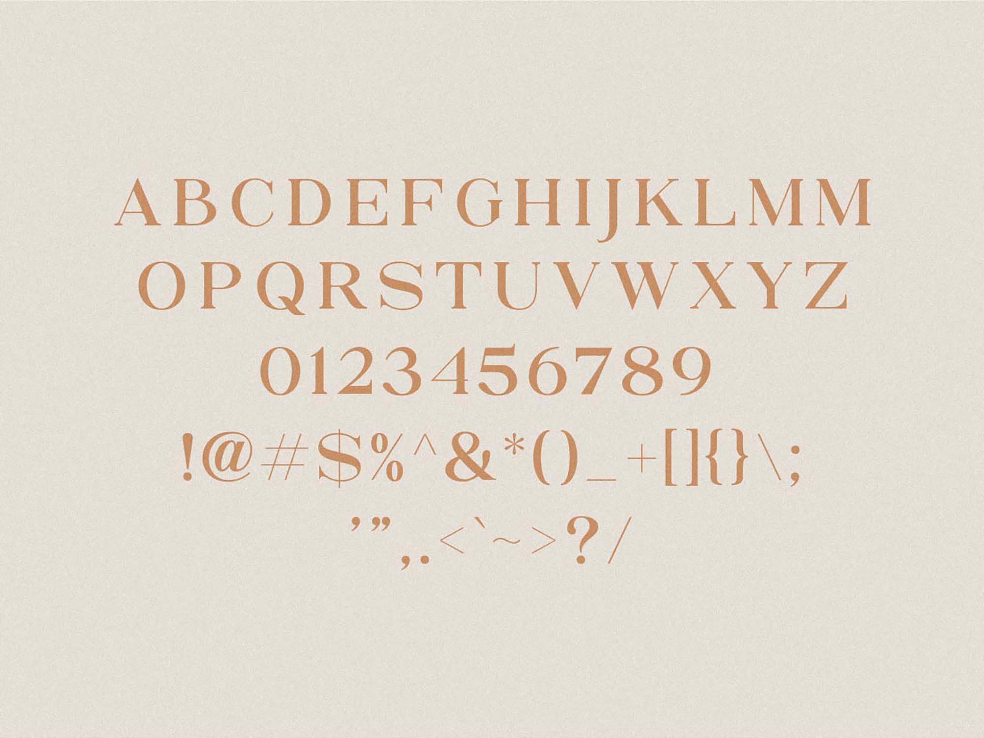 North Avellion Font - Uppercase Letters