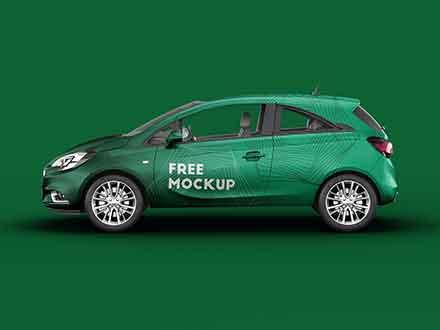 Opel Corsa Hatchback Car Mockup