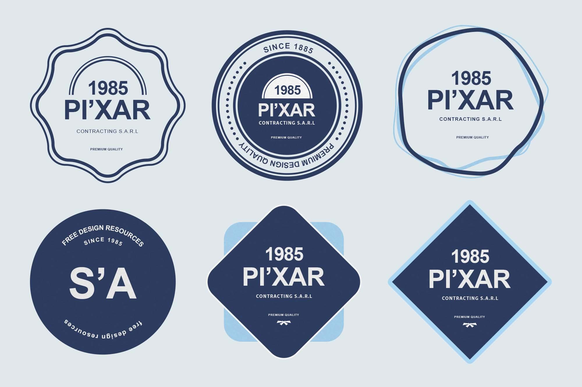PSD Badge Templates 1