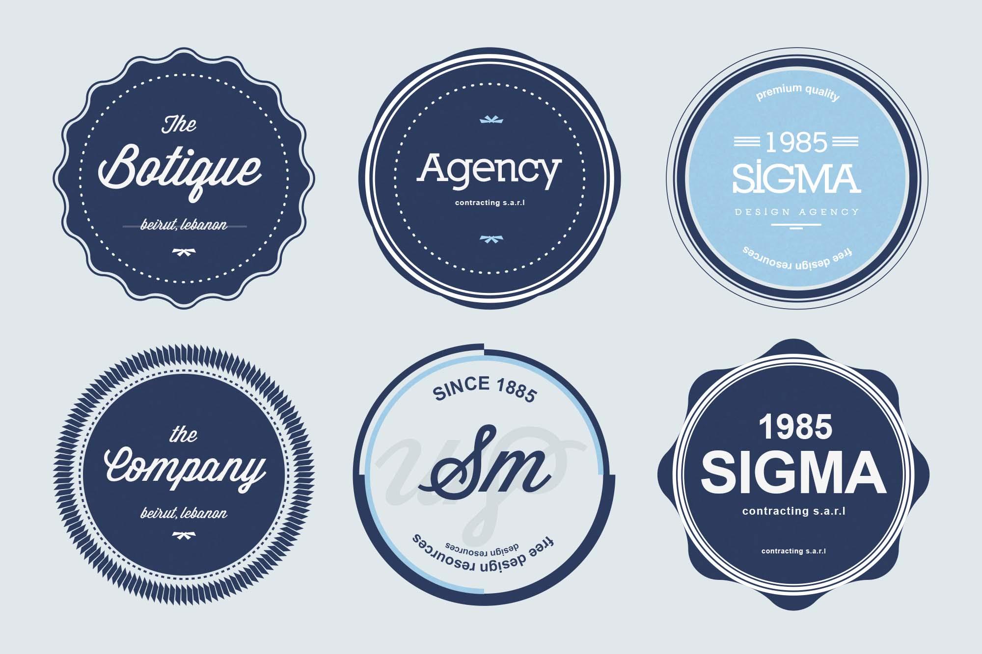 PSD Badge Templates 2