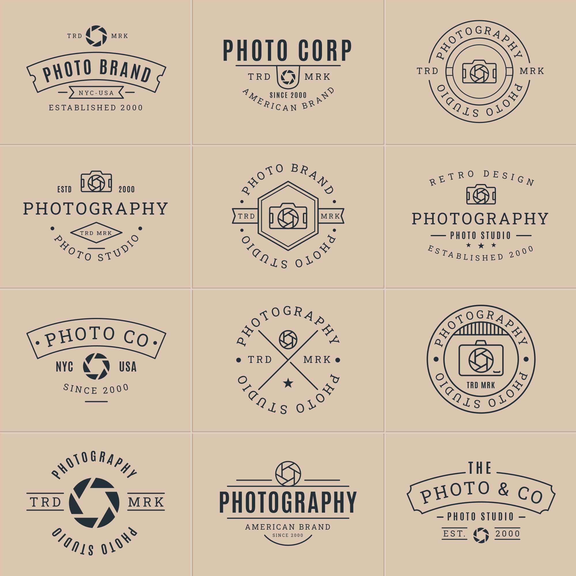 Photography Vector Badges 2