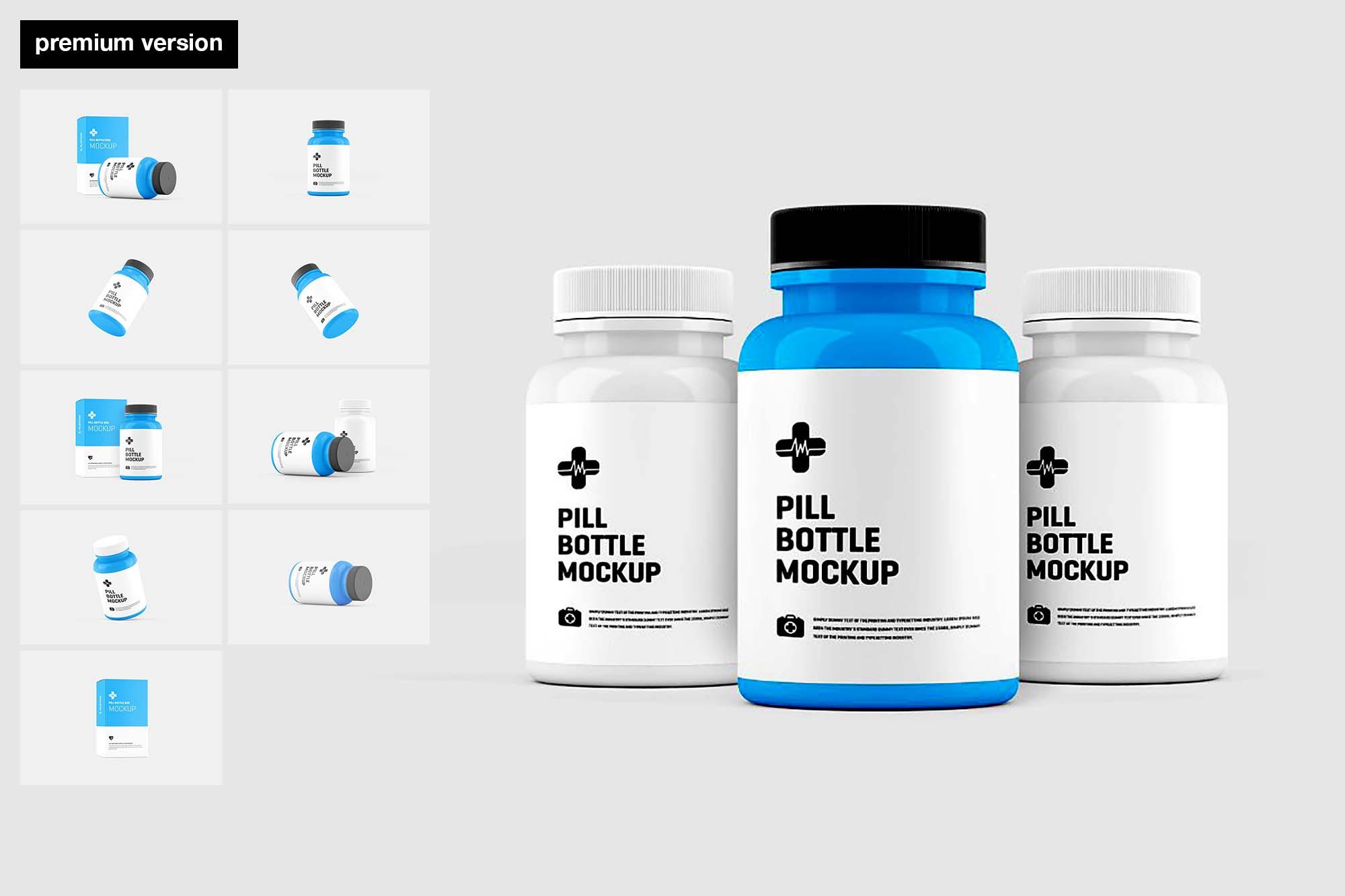 Pill Bottle Mockup - Premium Version