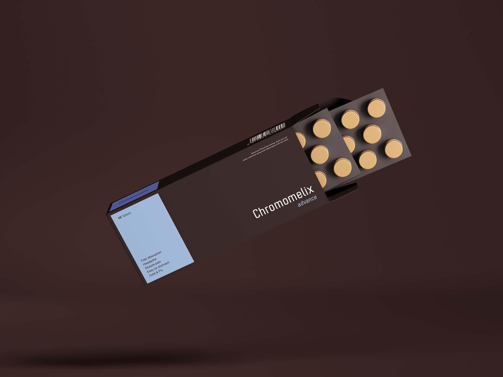 Pills Box Packaging Mockup 2