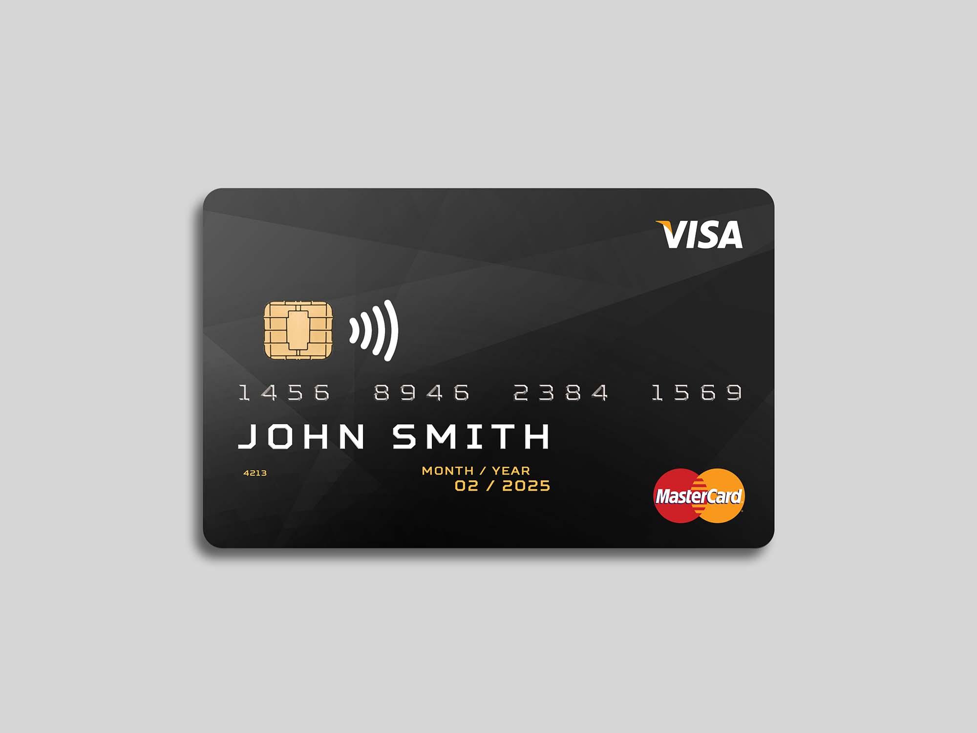 Plastic Debit Card Mockup