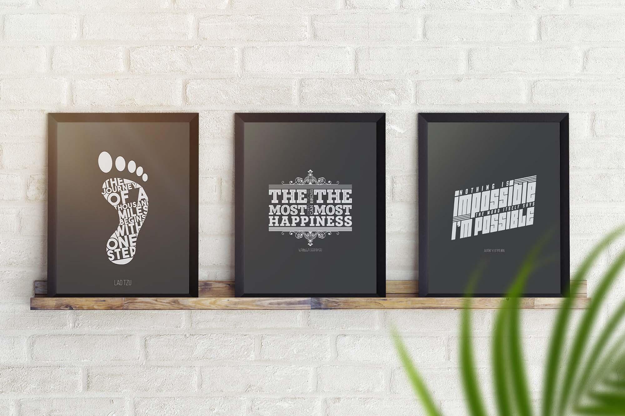 Posters on Shelf Mockup