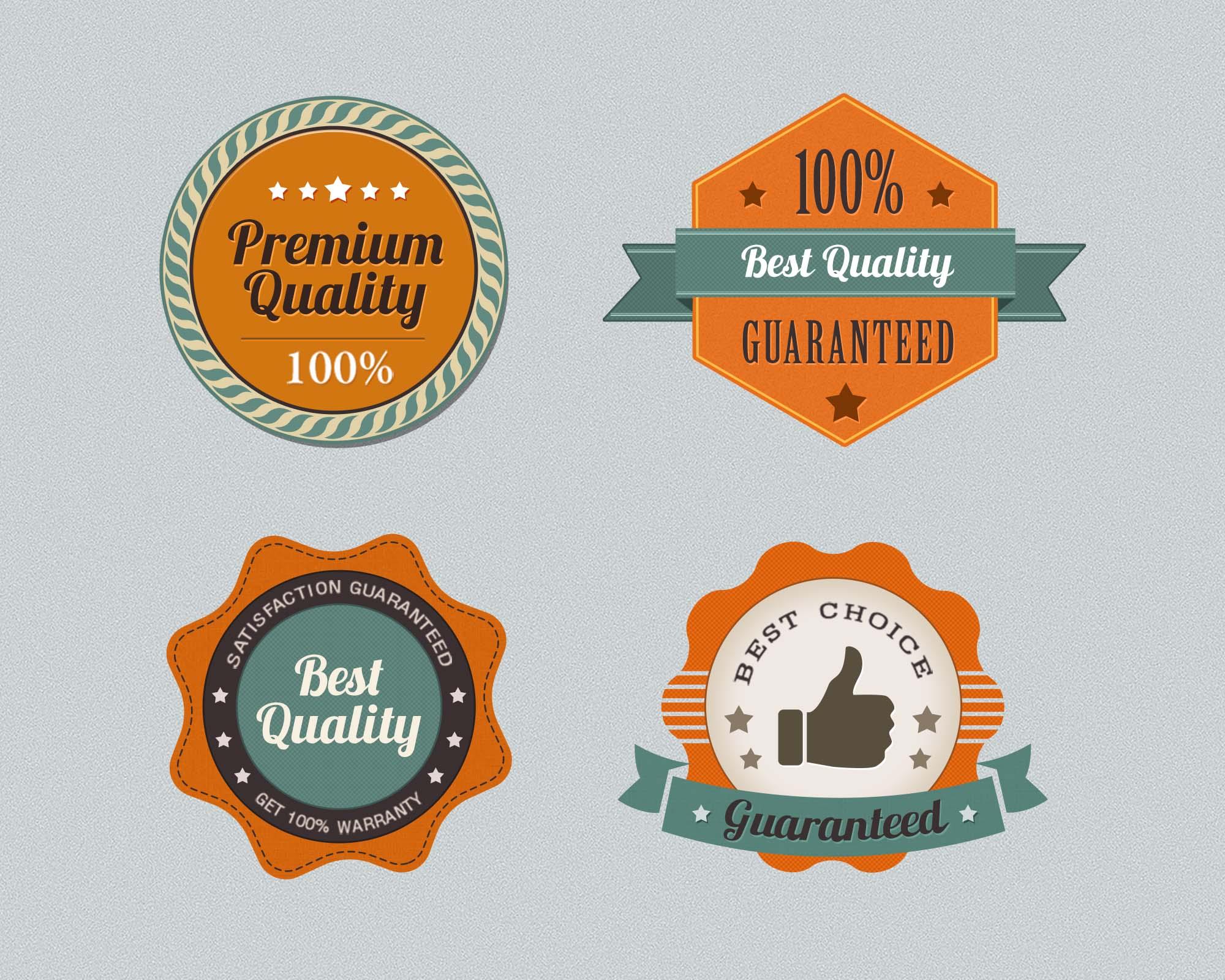 Premium Quality Badges 2