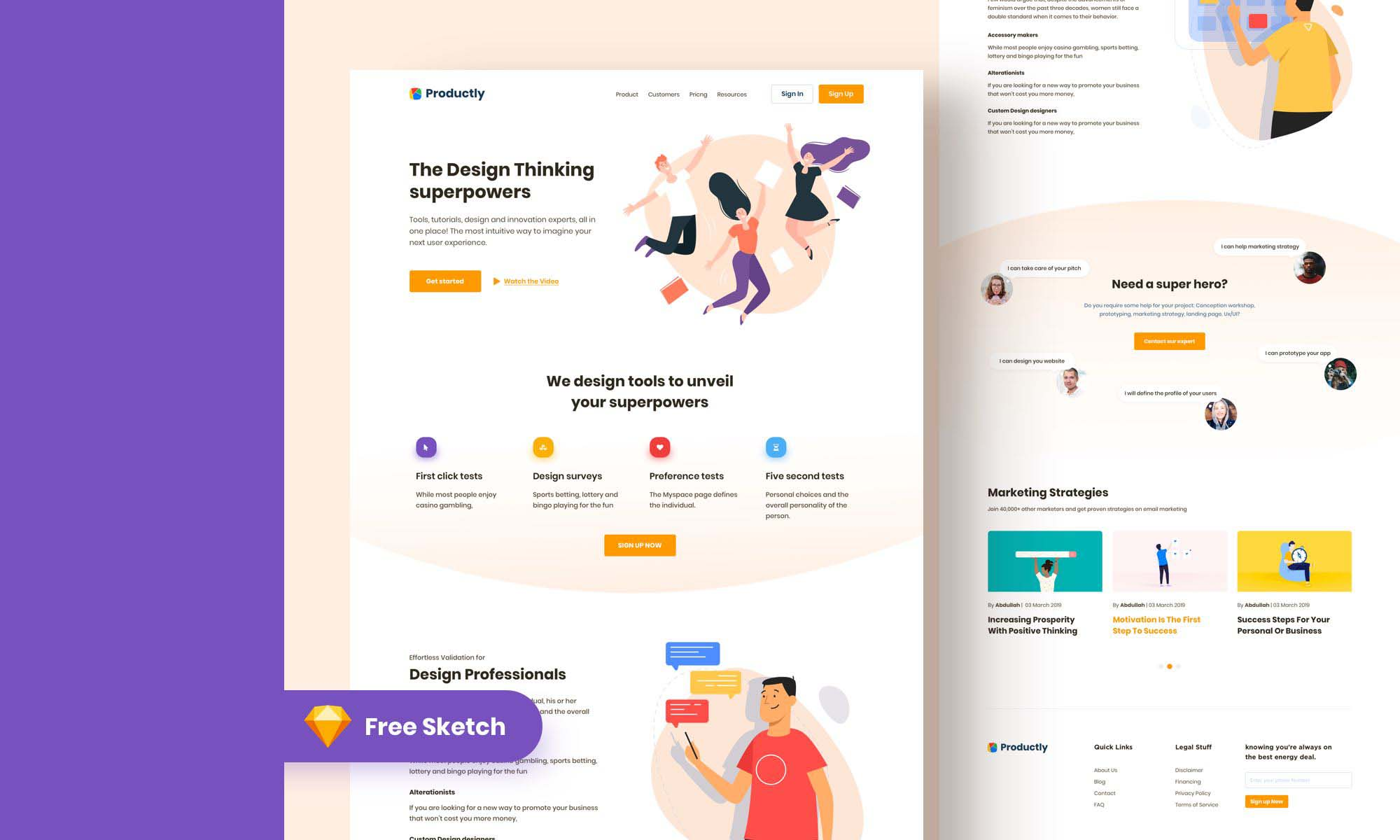 Productly Landing Page
