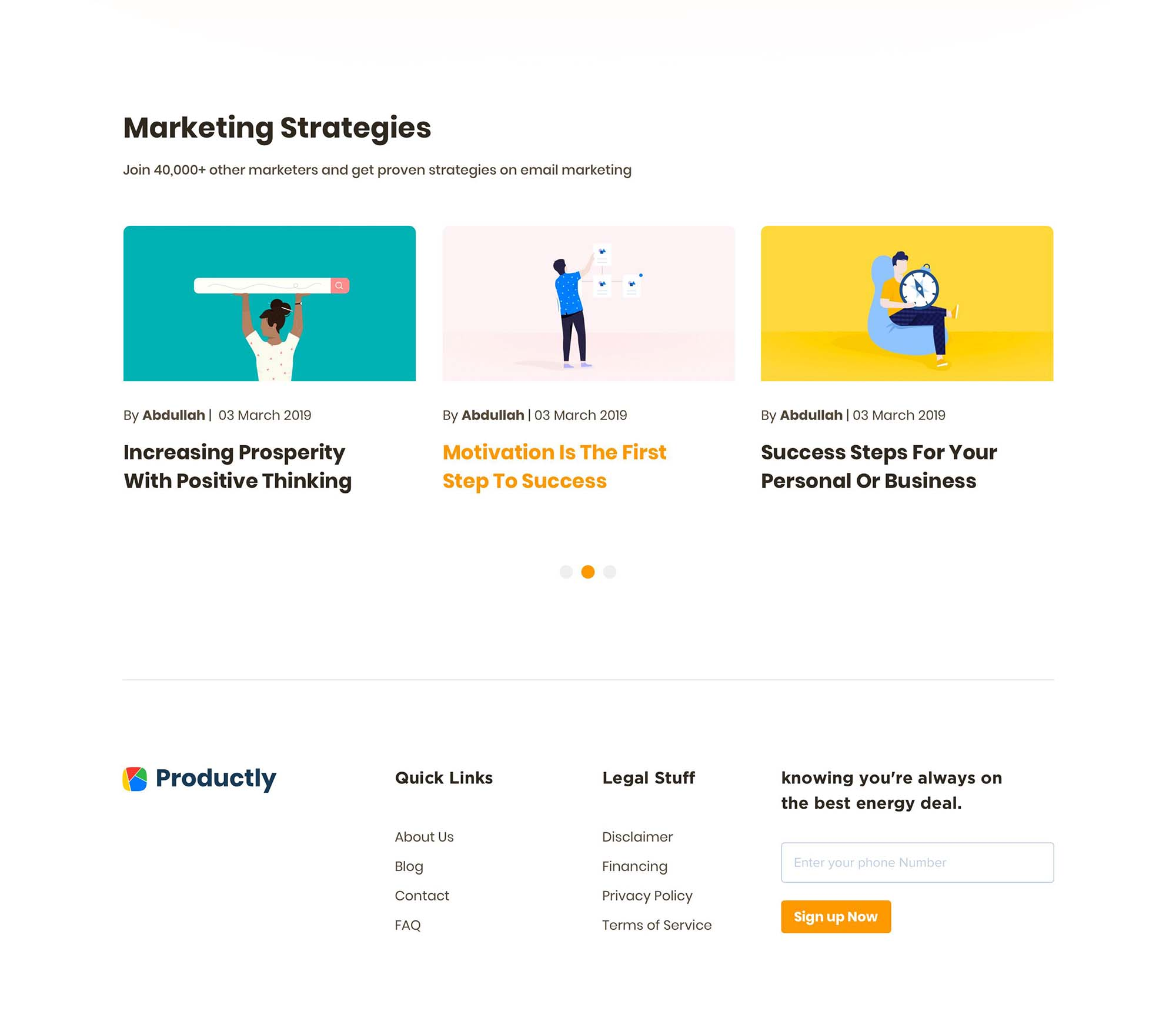 Productly Landing Page 4