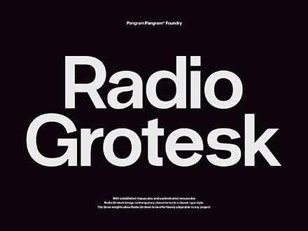 Radio Grotesk Sans Font