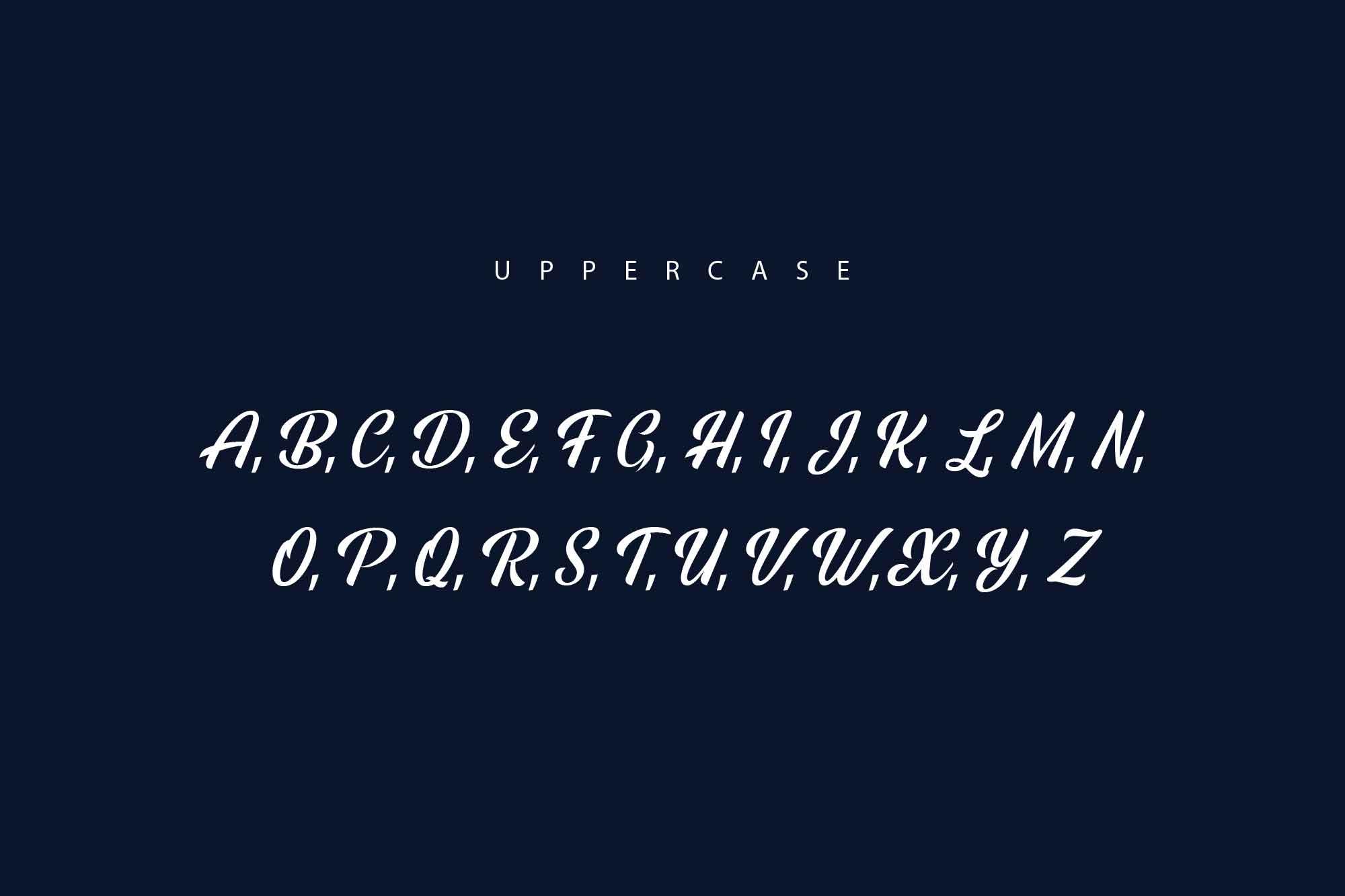 Rainbow Bridge Font Uppercase Letters
