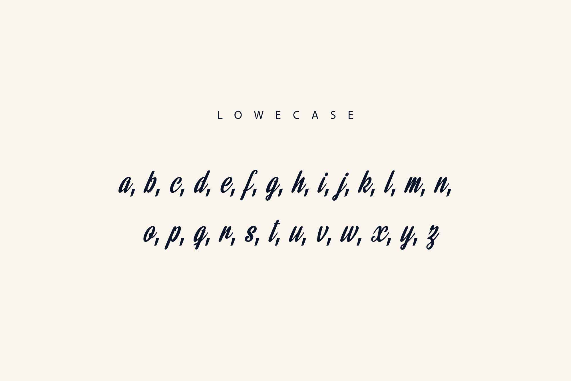 Rainbow Bridge Font Lowercase Letters