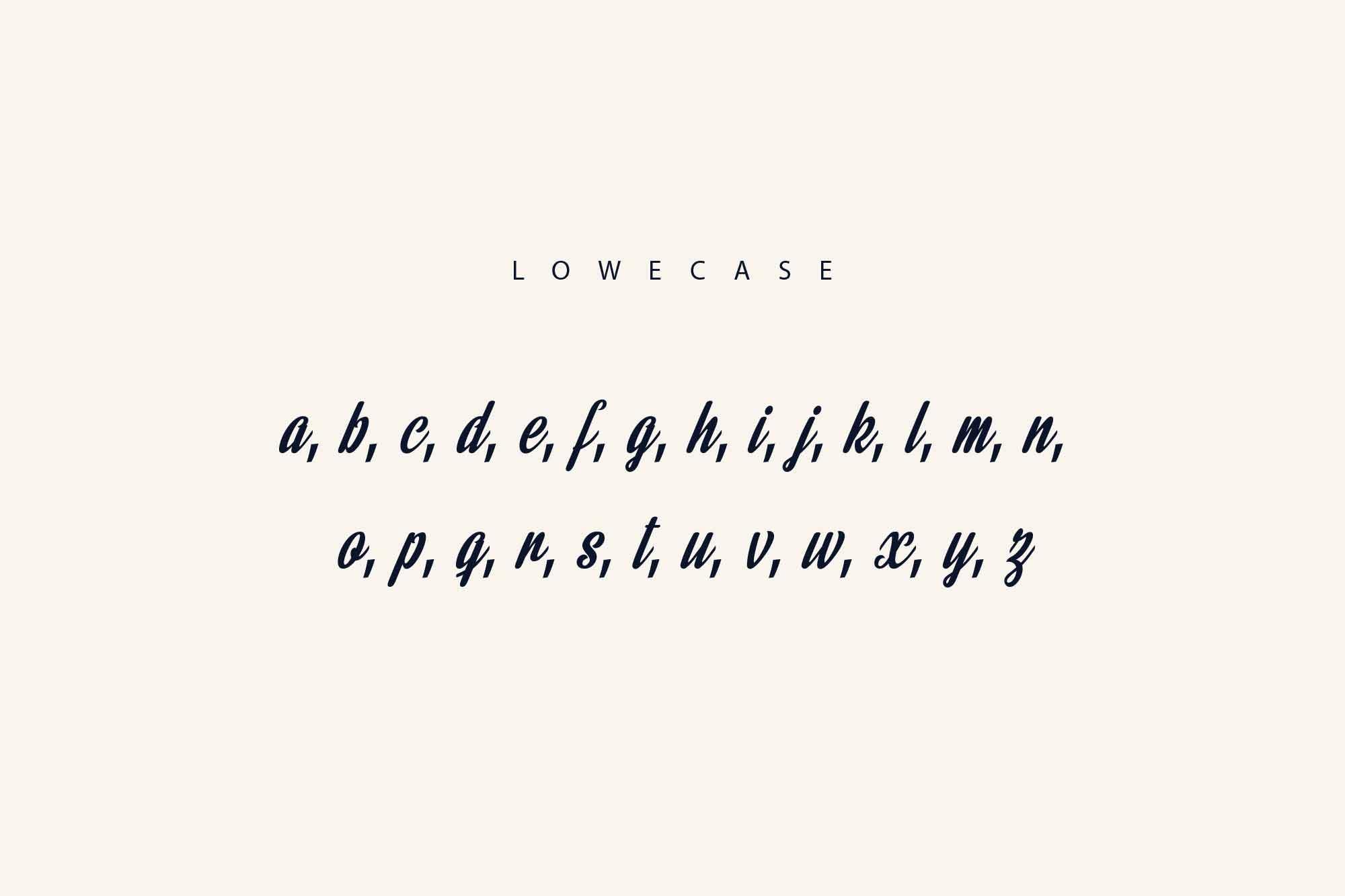 Rainbow Bridge Font Lowercase Letters