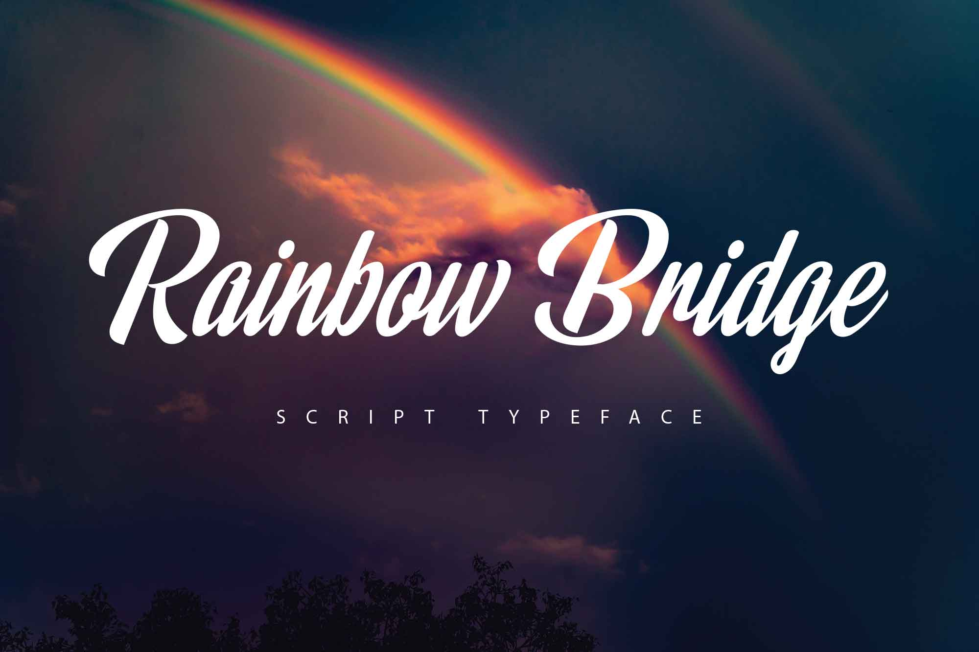 Rainbow Bridge Script Font