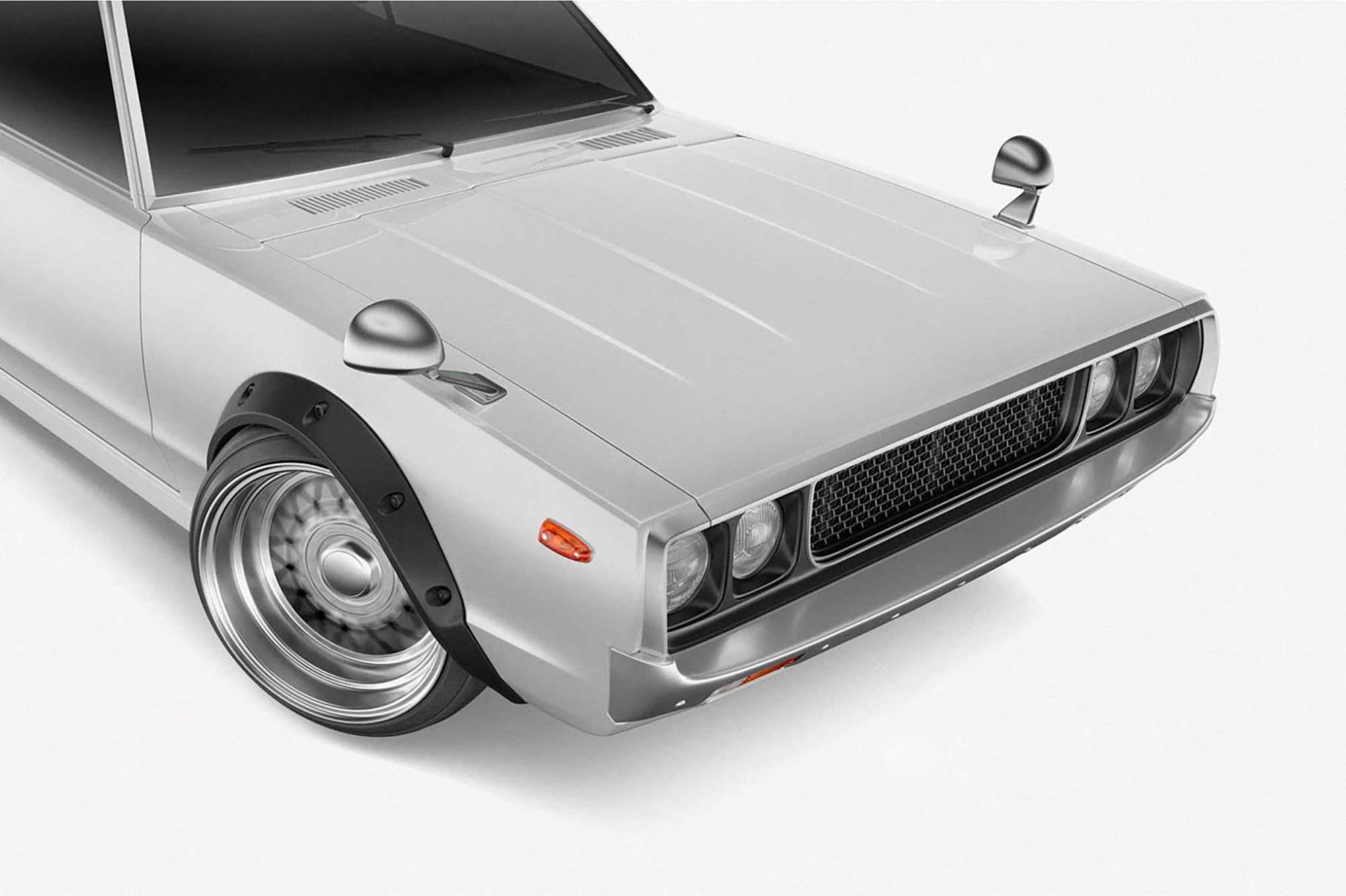 Retro Sport Car Mockup 2