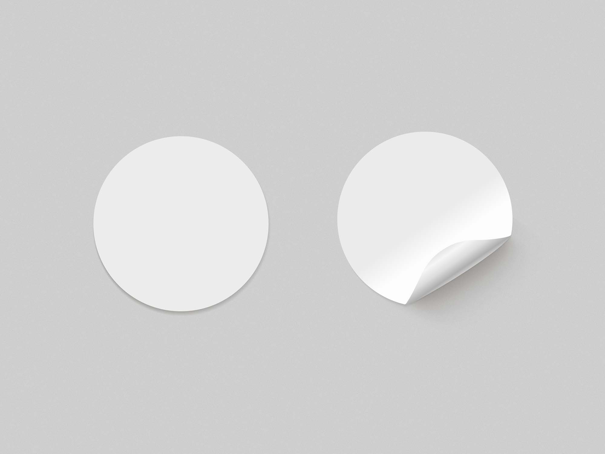 Round Paper Stickers Mockup 2