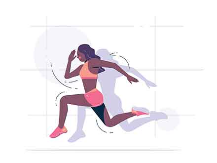Running Girl Illustration
