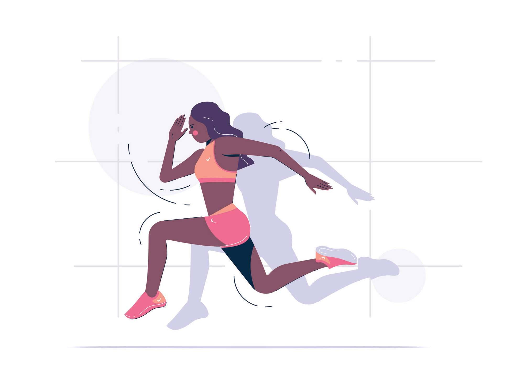 Running Girl Illustration