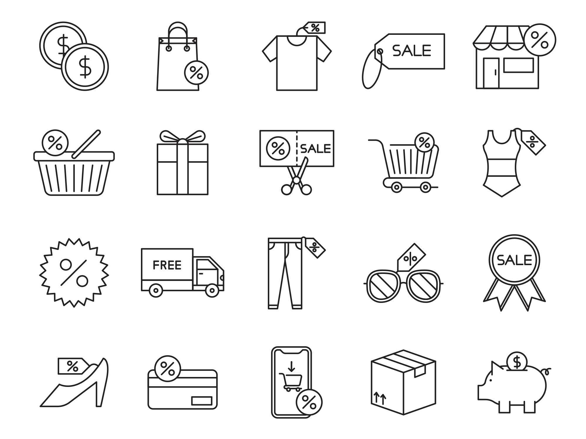 Sale Vector Icons