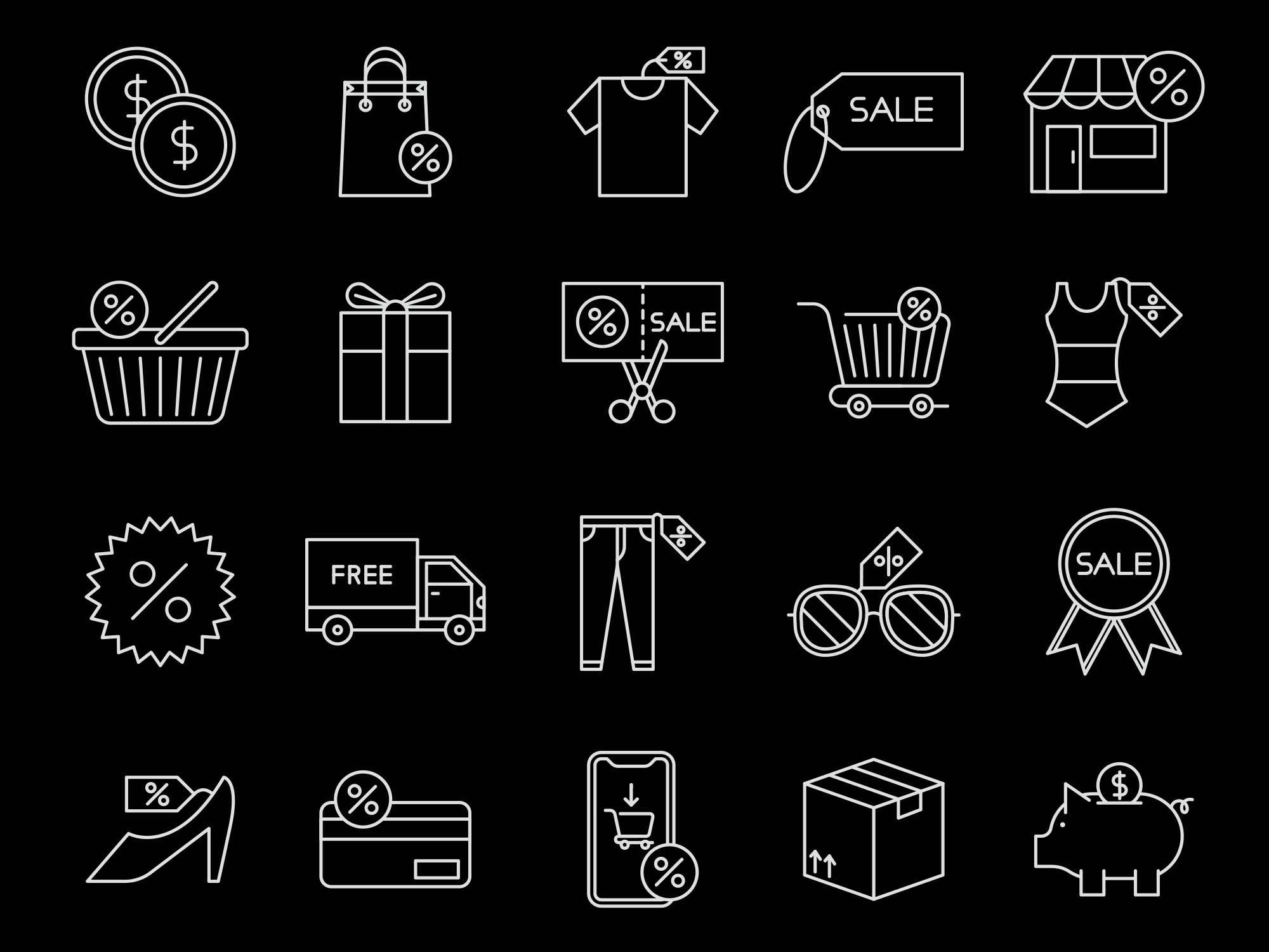 Sale Vector Icons 2