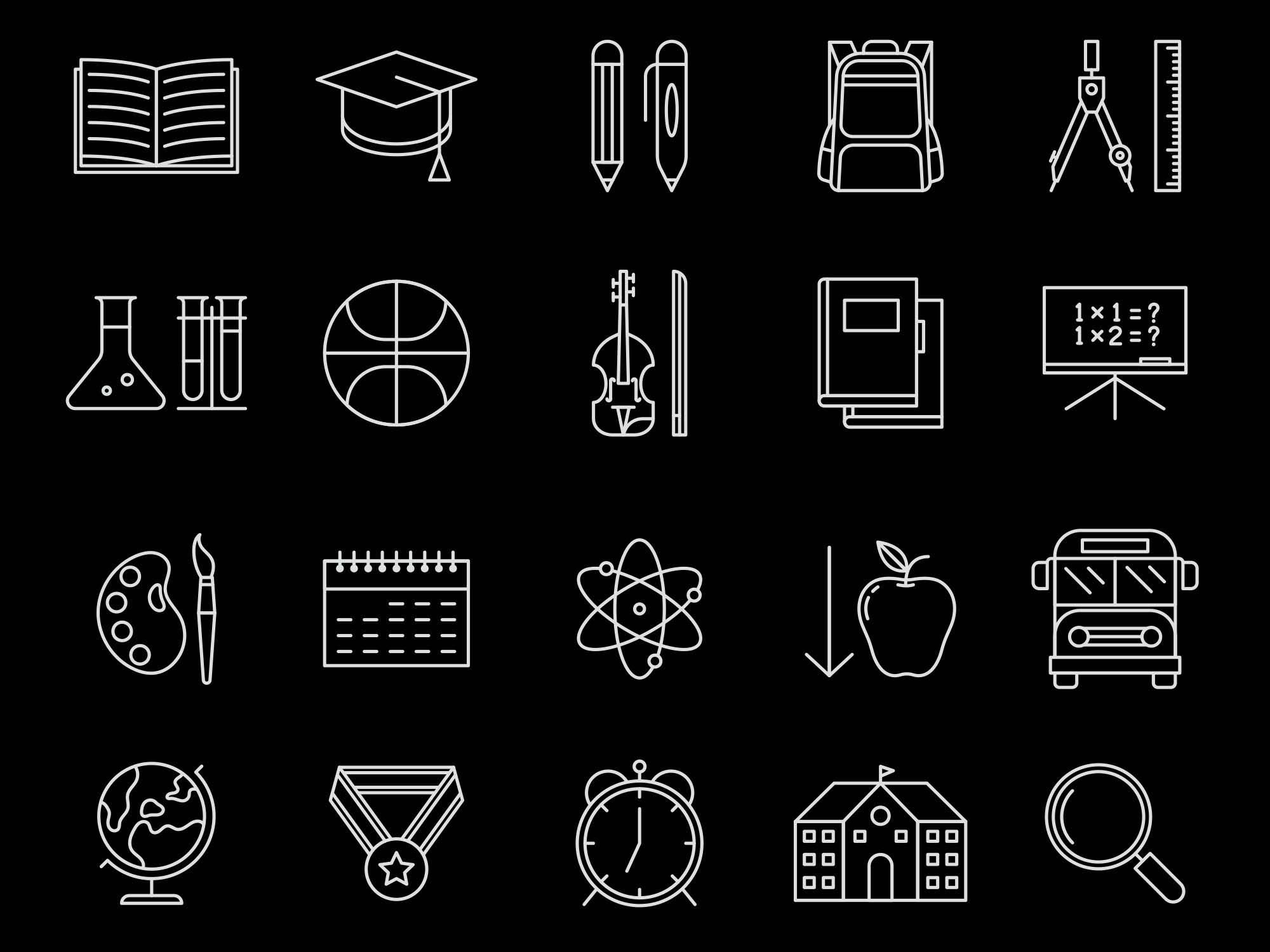 School Vector Icons 2