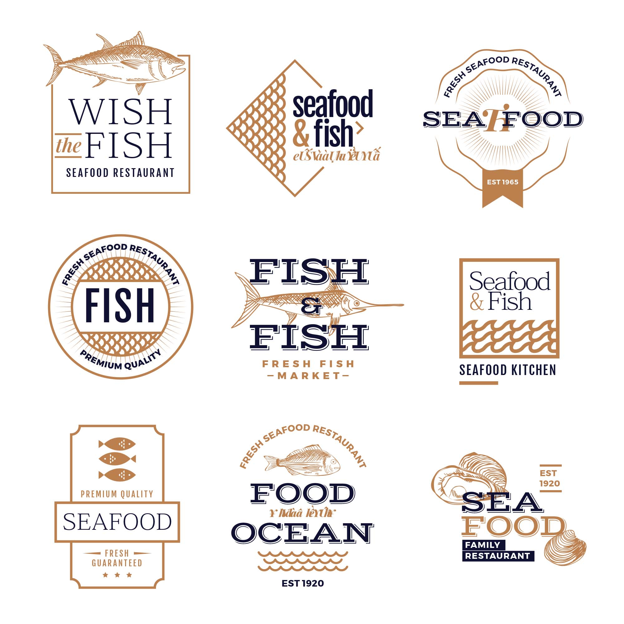 Seafood Logo Templates