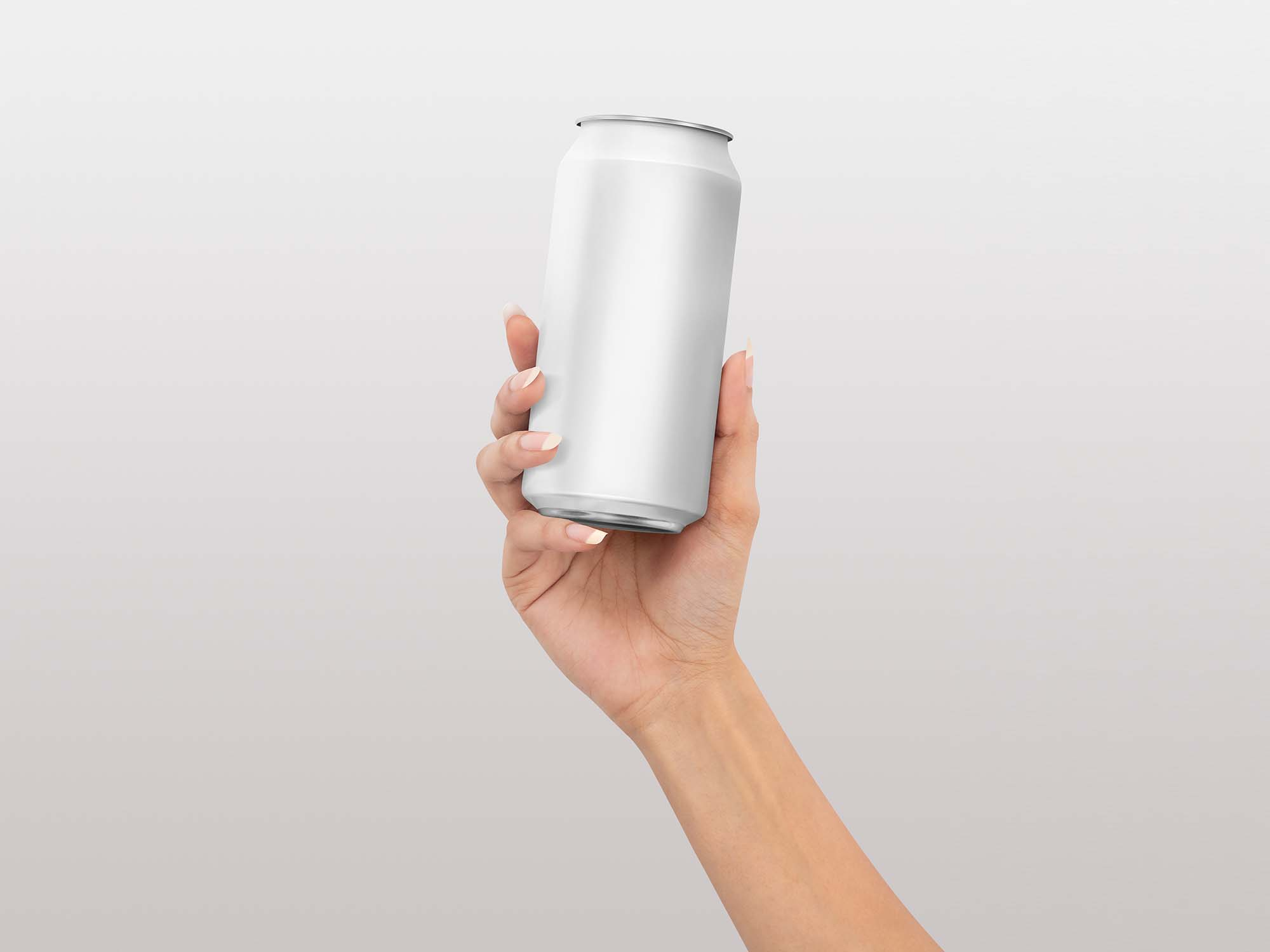 Soda Can in Hand Mockup 2