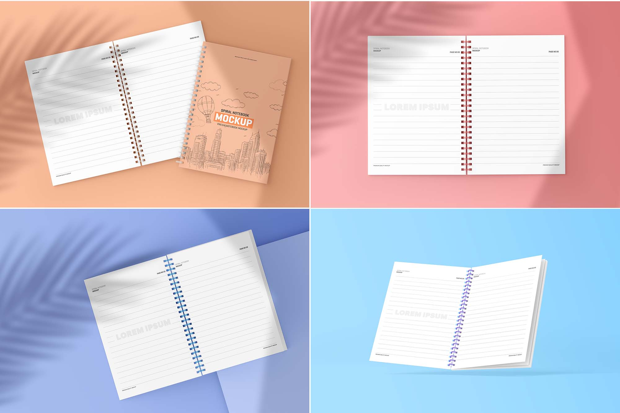 Spiral Notebook Mockup - Premium 2