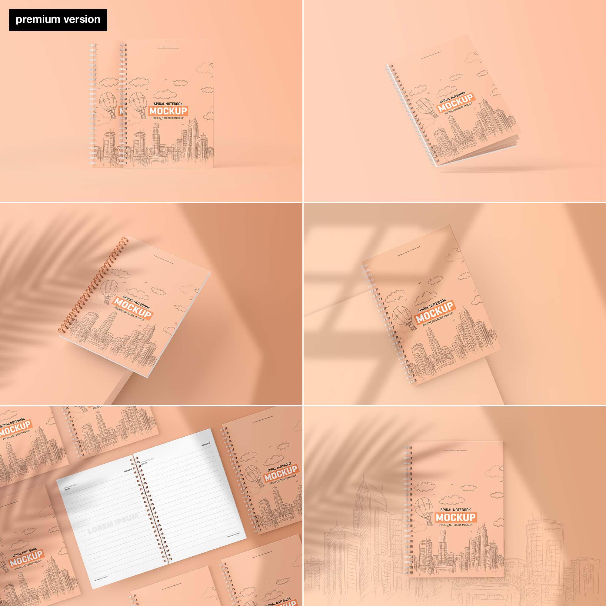 Spiral Notebook Mockup - Premium