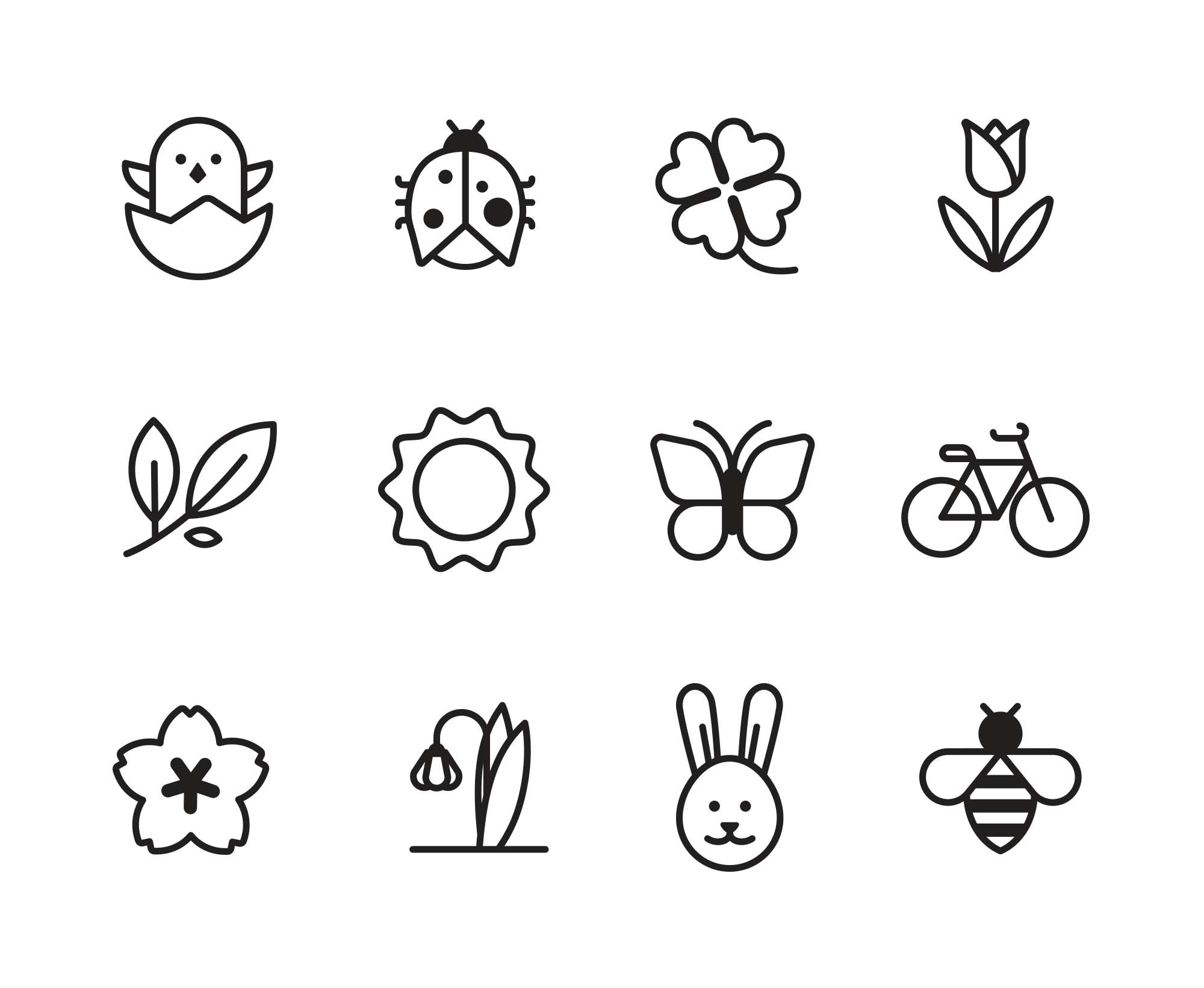 Spring Vector Icons 2
