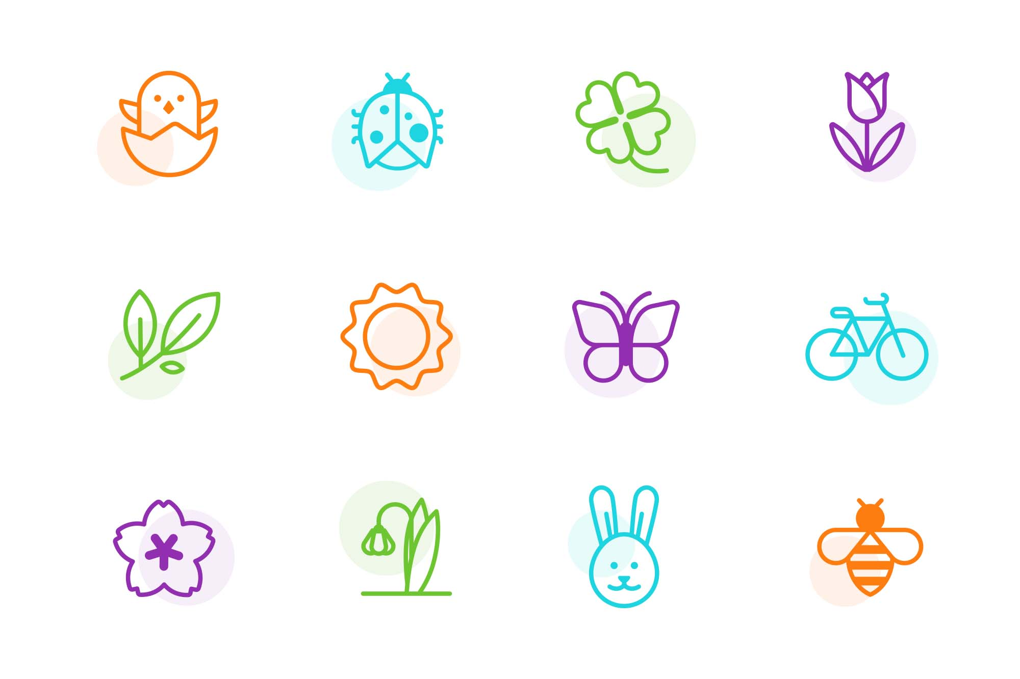Spring Vector Icons