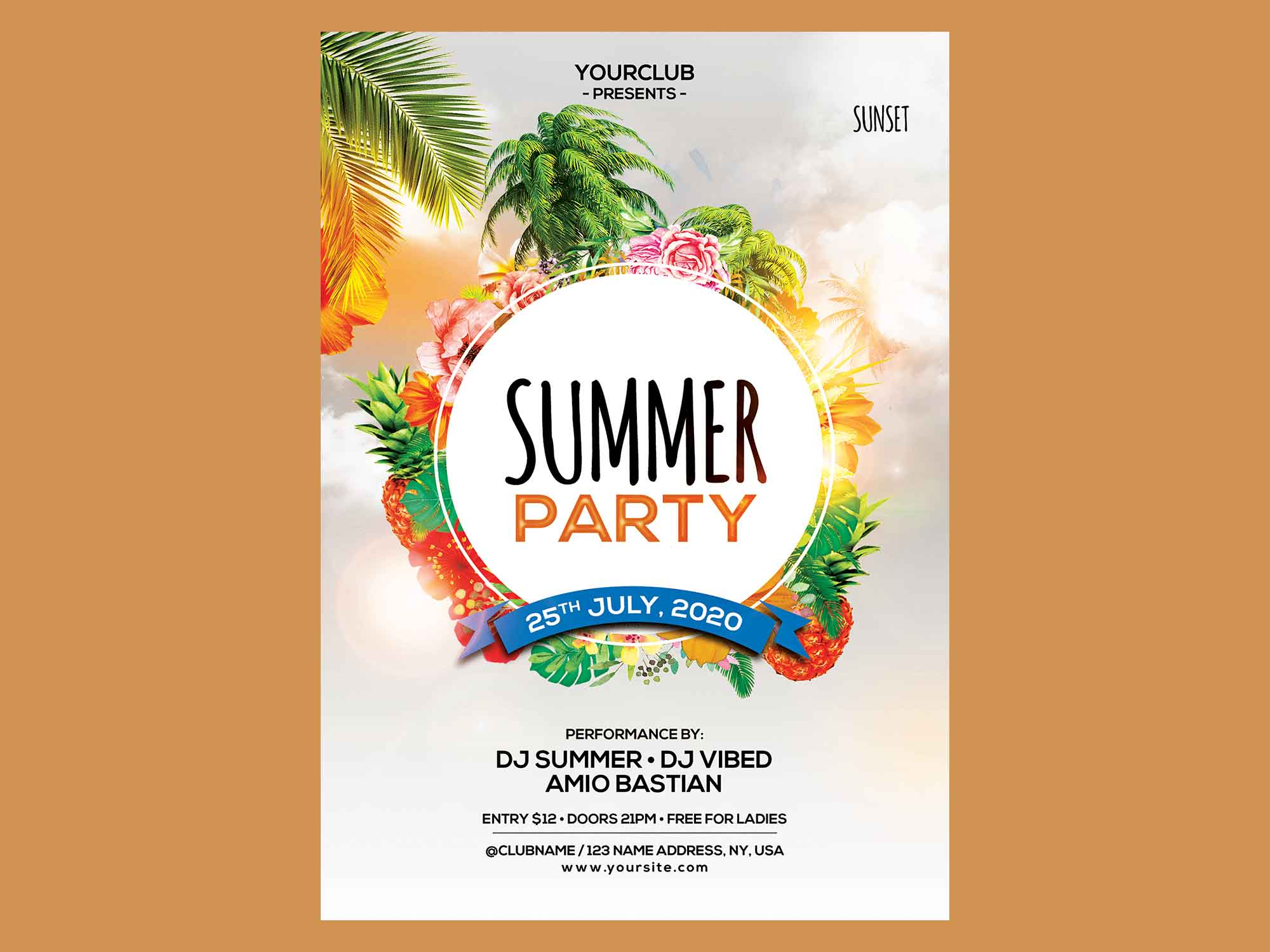 Summer Party Flyer Template 2