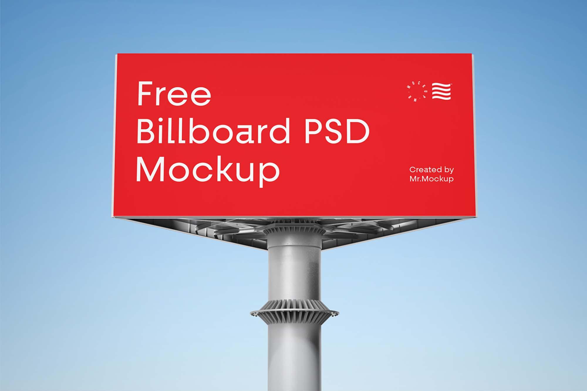 Triangular Billboard Mockup