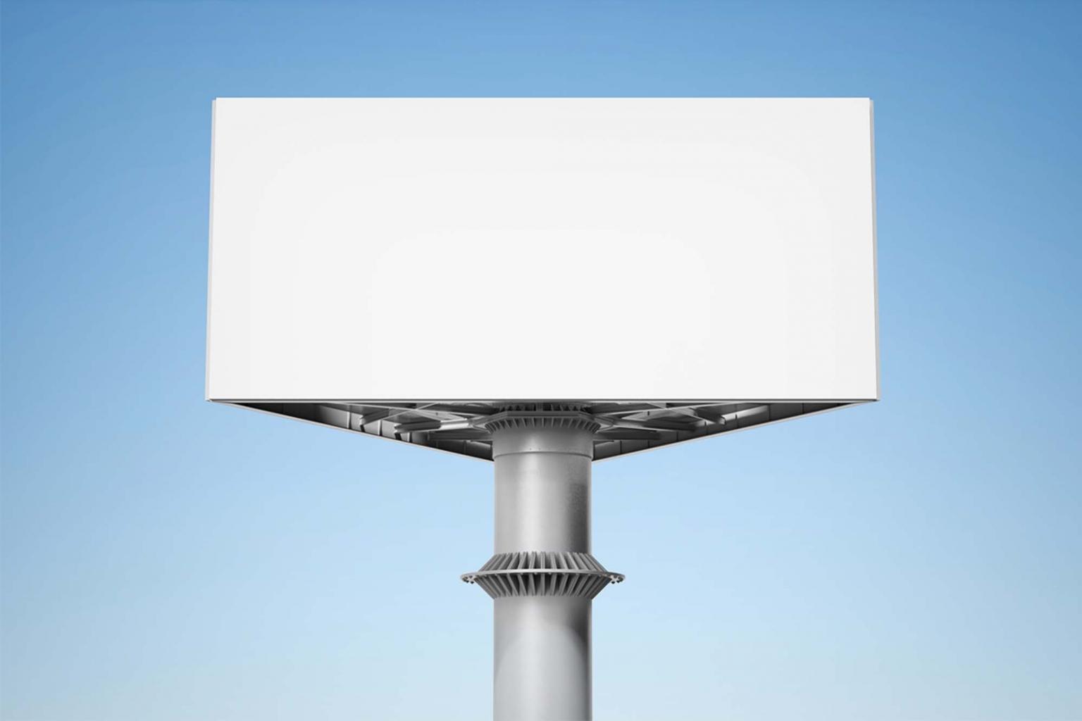 Треугольный билборд мокап