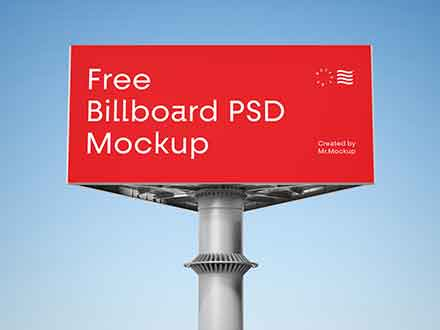 Triangular Billboard Mockup