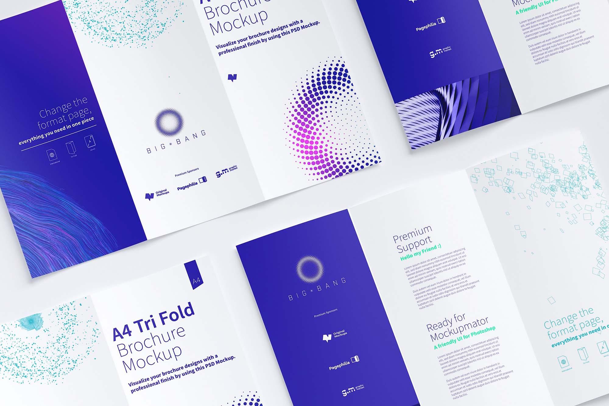 Trifold A4 Brochure Mockup 2