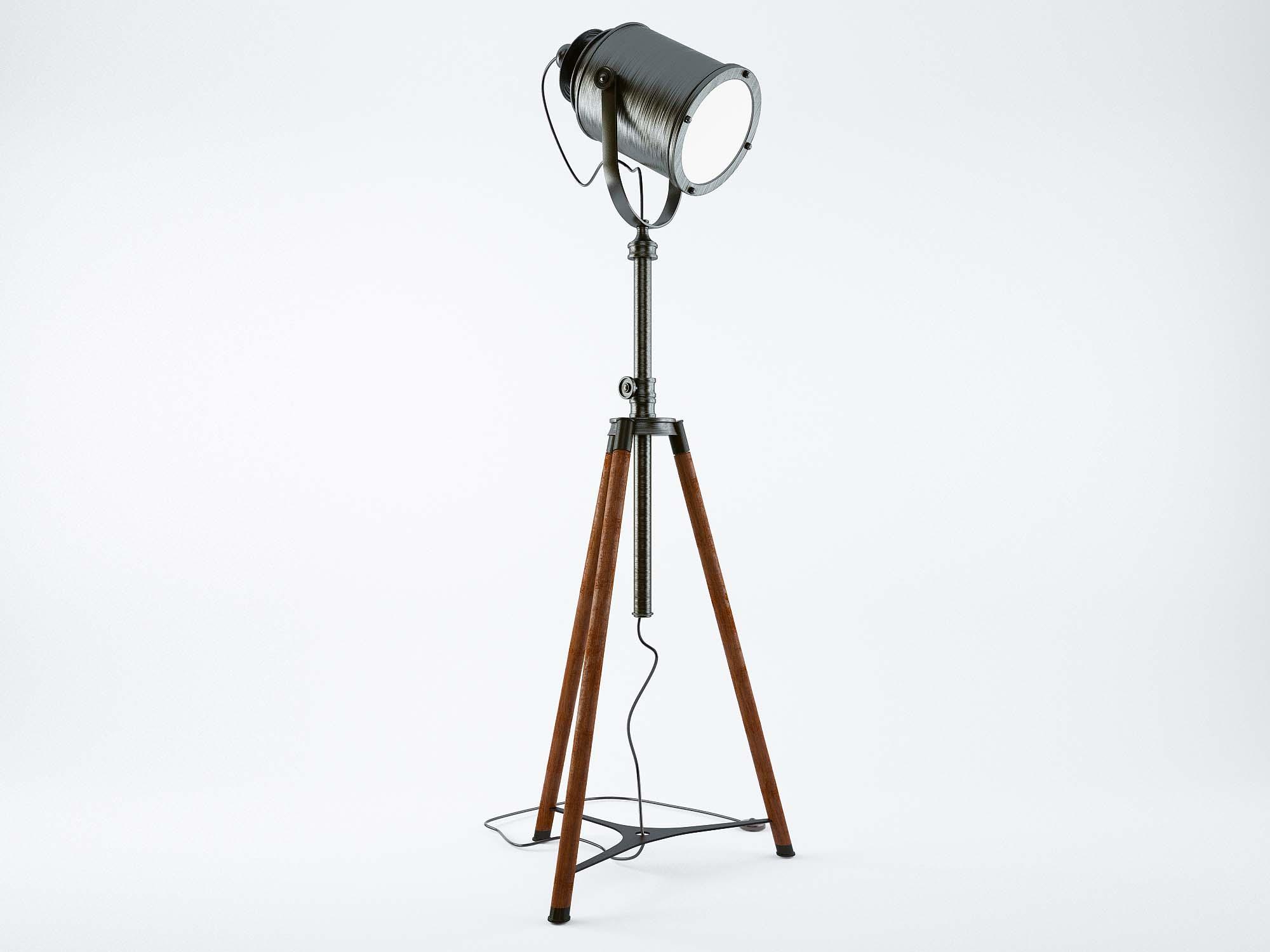 Tripod Floor Lamp 3D Model