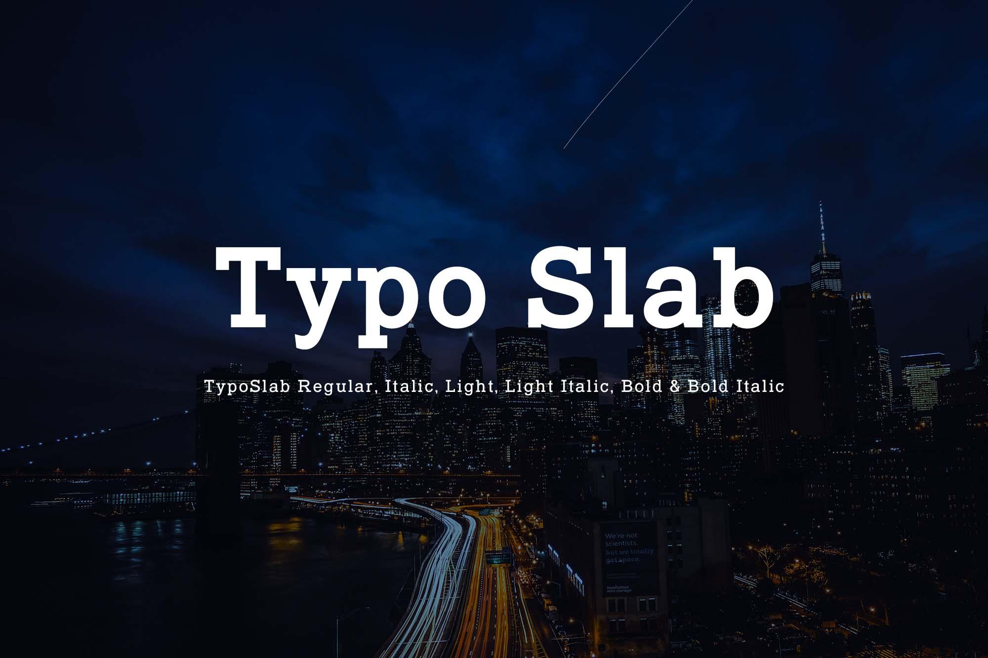 Typo Slab Font