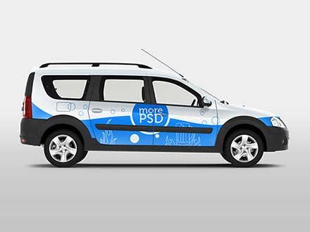 Van Car Branding Mockup