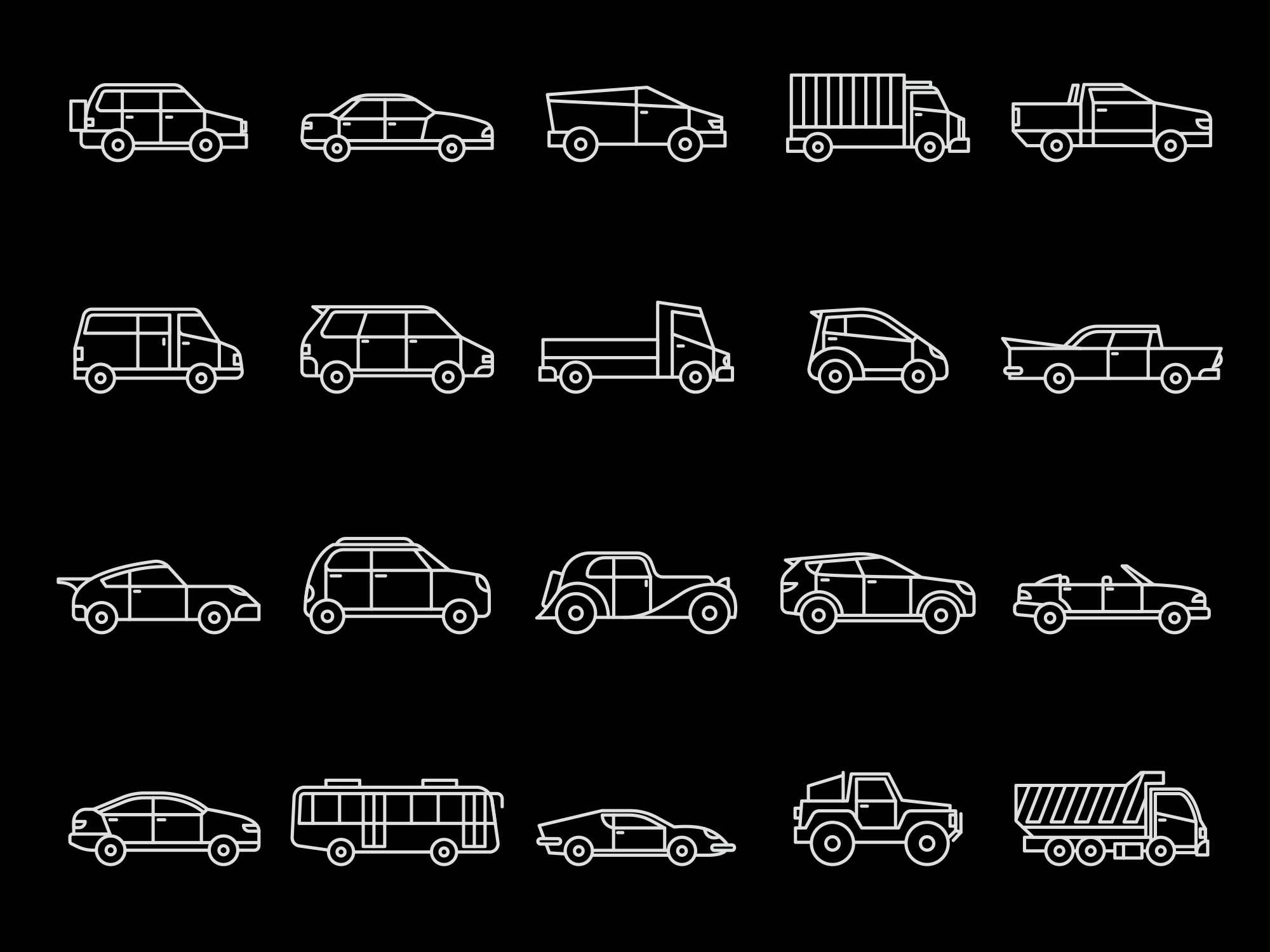 Vehicles Vector Icons 2