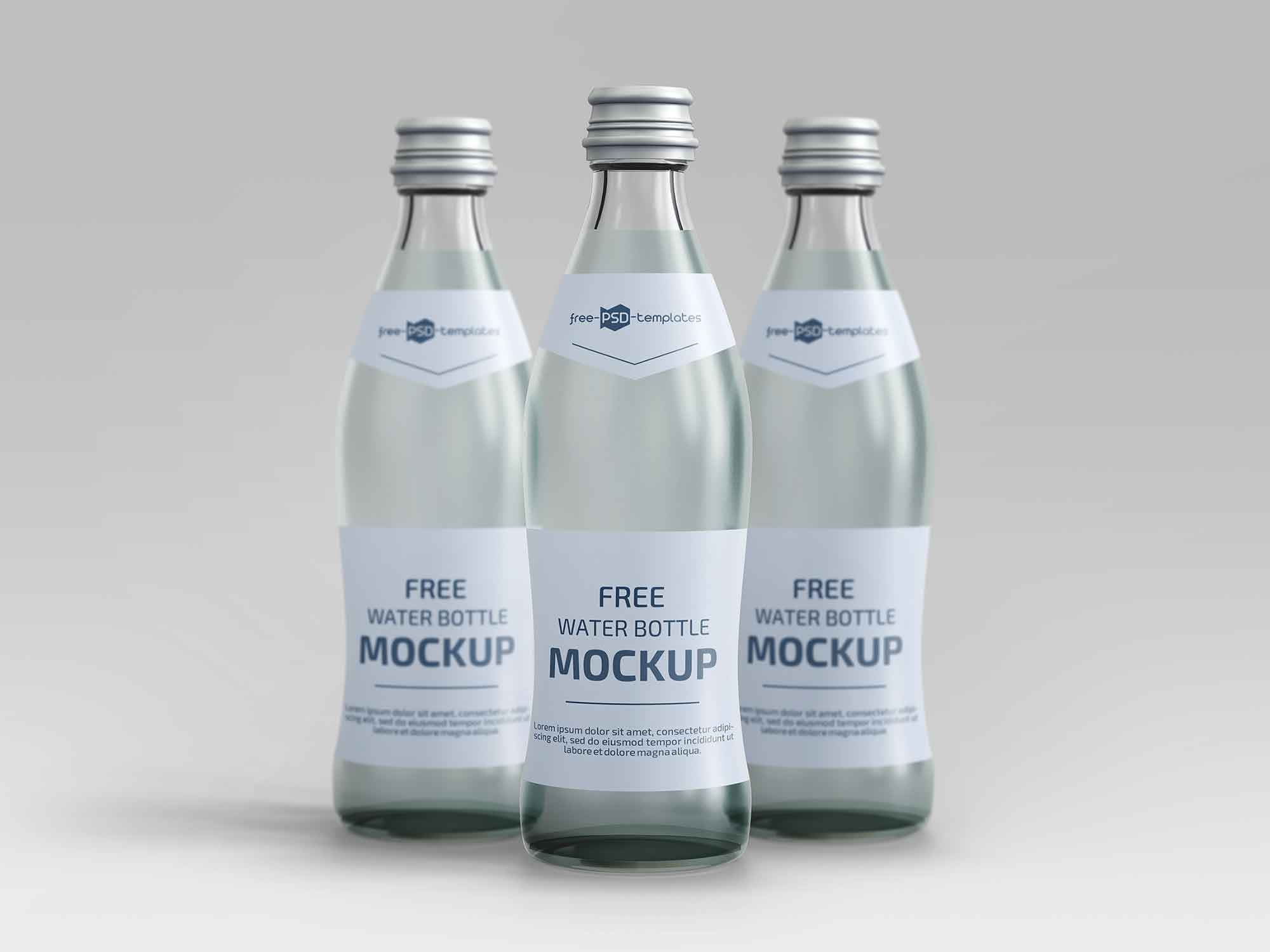 Water Bottles Mockup